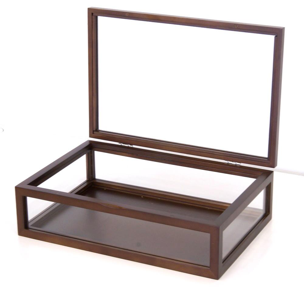 ガラスケース ハイクラス 木製コレクションケース 幅30cm ブラウン