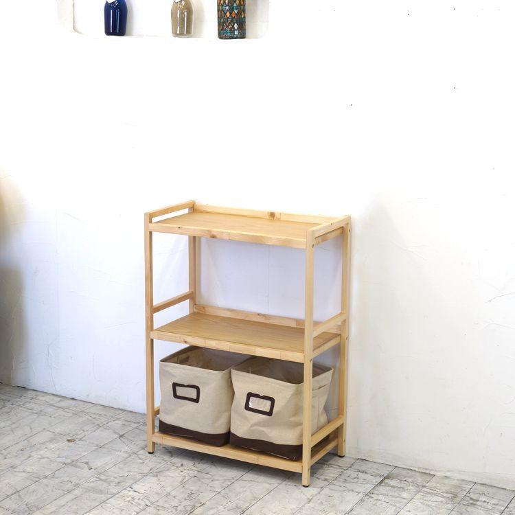 ラック3段と布箱(小)2個