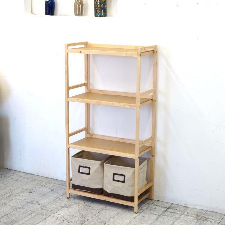 ラック4段と布箱(小)2個