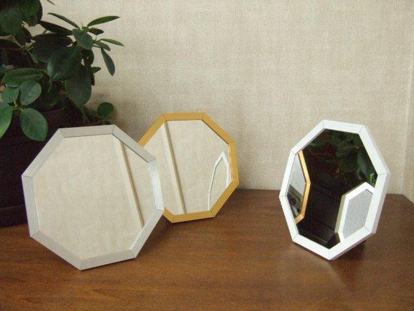 画像1: 幸運を呼ぶ八角風水ミラー(ゴールド/シルバー/ホワイト) オクタム (1)