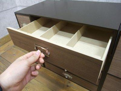 画像1: 卓上収納 シオン 木製ウォルナット ツール&A4が入るサイズ 1段