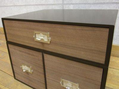 画像2: 卓上収納 シオン 木製ウォルナット ツール&A4が入るサイズ 1段