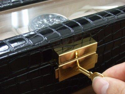 画像2: 腕時計5本収納ケース クロコ風