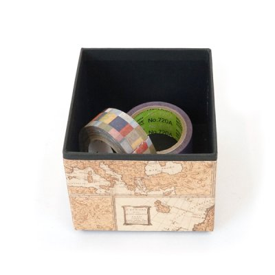 画像1: 【小物トレイ・小物収納】スタッキングできるイタリアの輸入高級紙を使用した卓上収納 小物トレイ