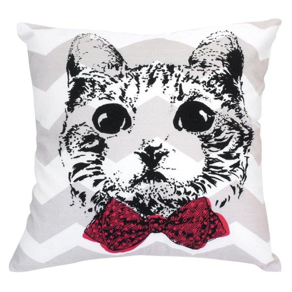 画像1: クッションカバー 猫 グラフィック 45×45 北欧デザイン (1)
