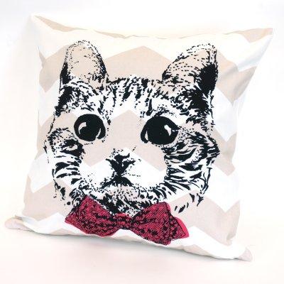 画像2: クッションカバー 猫 グラフィック 45×45 北欧デザイン
