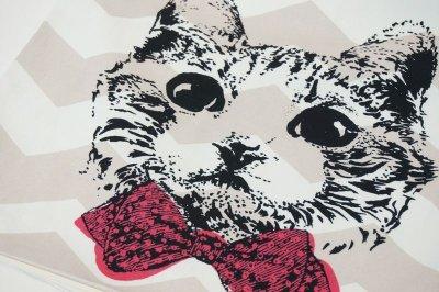 画像3: クッションカバー 猫 グラフィック 45×45 北欧デザイン