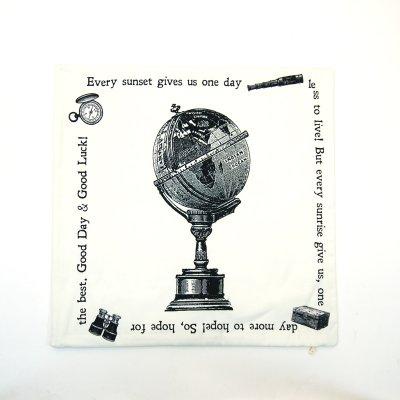 画像1: クッションカバー 地球儀トラベル 45×45 シンプル シック アンティーク