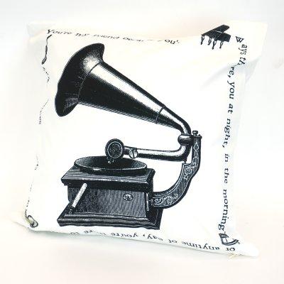 画像1: クッションカバー ミュージック 45×45