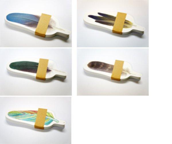 画像1: 羽根のメッセージカード/サンキューカード 100枚組 (1)