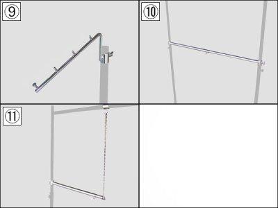 画像3: 【耐荷量100kg以上】プロ仕様でグラつかない!150cm幅 高品質で低価格! 業務用 美しいスチールハンガーラックストロンガー【即納】