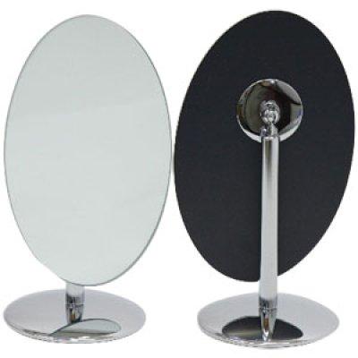 画像1: 360度角度調節可能! オーバルデスクミラー