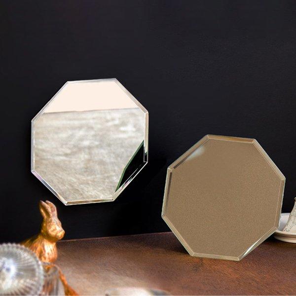 画像1: フレームレスな八角ミラー (1)