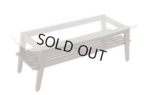 画像1: (完売)木製ガラステーブル コルネ120 センターテーブル ソファーテーブル 棚付き ブラウン おしゃれ 幅120cm 【送料無料】 (1)