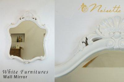 画像1: ノアゼット ボタニカルデザインフレーム ウォールミラー ノアゼット オールドローズのフレンチテイスト
