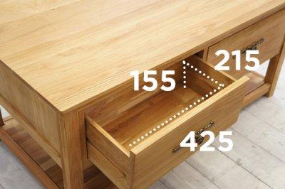 画像3: 重厚感のある高級オーク家具 カフェテーブル 【送料無料】