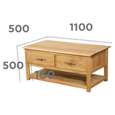 画像1: 重厚感のある高級オーク家具 カフェテーブル 【送料無料】