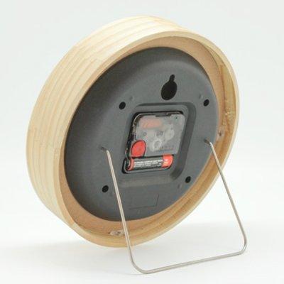 画像1: 無垢材で作られたシンプルな木製スタンド&ウォールクロックMサイズ
