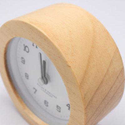 画像2: 無垢材のシンプルなアラームクロック