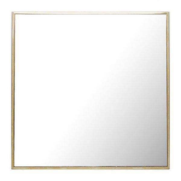 画像1: 【縦横両用】真鍮ミラー 壁掛けミラー ウォールミラー W400×H400 正方形 (1)