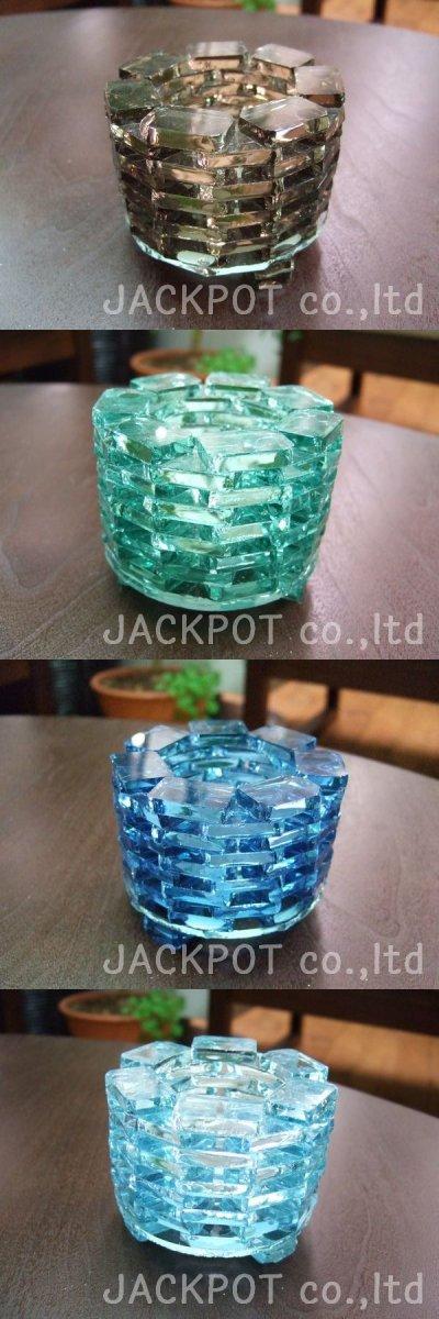 画像1: ティーライト用 ガラスのキャンドルホルダー