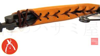 画像2: 植木剪定鋏 本革巻きハンドル カタナ No.20