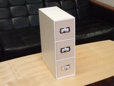 画像3: レトロモダンなデザインの卓上収納 シオンシステム収納 小物が入るサイズ 木製 ホワイト