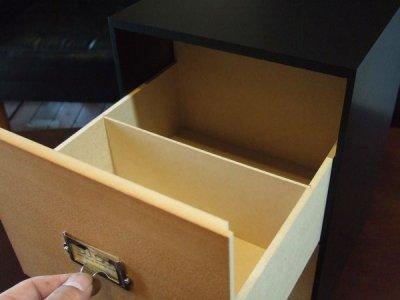 画像1: レトロモダンなデザインの卓上収納 シオンシステム収納 ビデオ・DVD収納 木製 ブラック システム収納シリーズ
