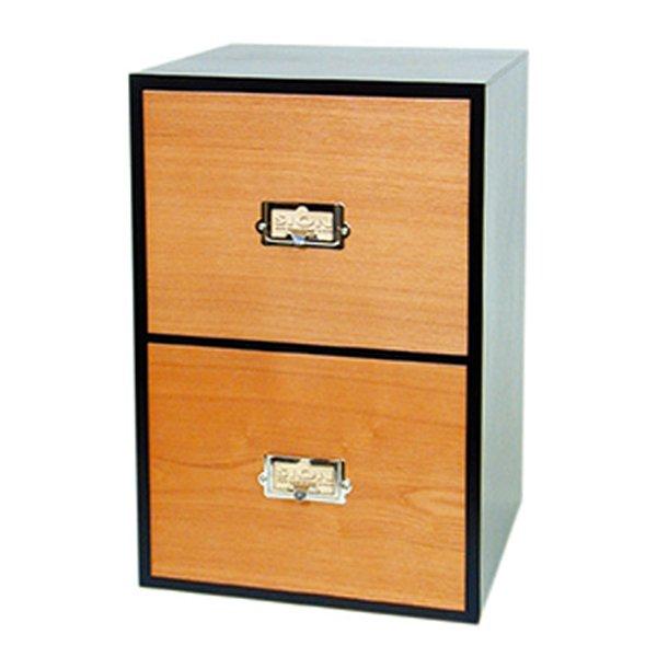 画像1: レトロモダンなデザインの卓上収納 シオンシステム収納 ビデオ・DVD収納 木製 ブラック システム収納シリーズ  (1)