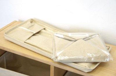 画像1: エマ ファブリック収納ボックス ウッドラック用  Sサイズ ホワイト※完売しました