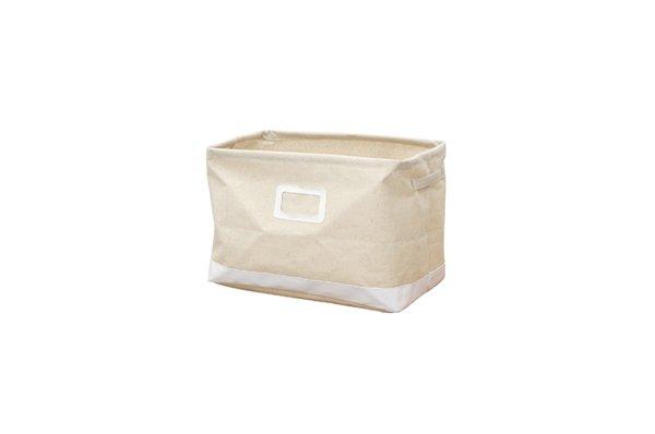 画像1: エマ ファブリック収納ボックス ウッドラック用  Mサイズ ホワイト (1)