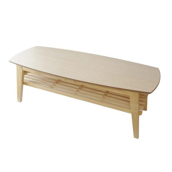 画像1: 幅120cmのリビングセンターテーブル コパン120 オーク 【送料無料】 (1)