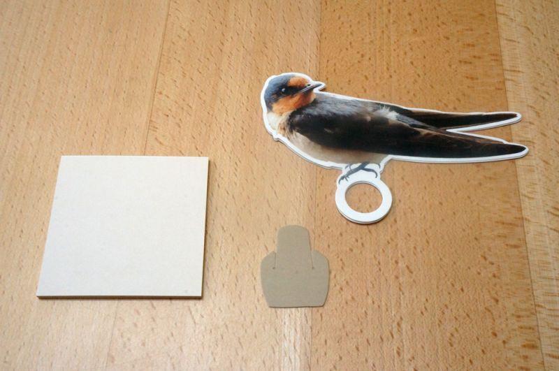 小鳥のメモホルダー