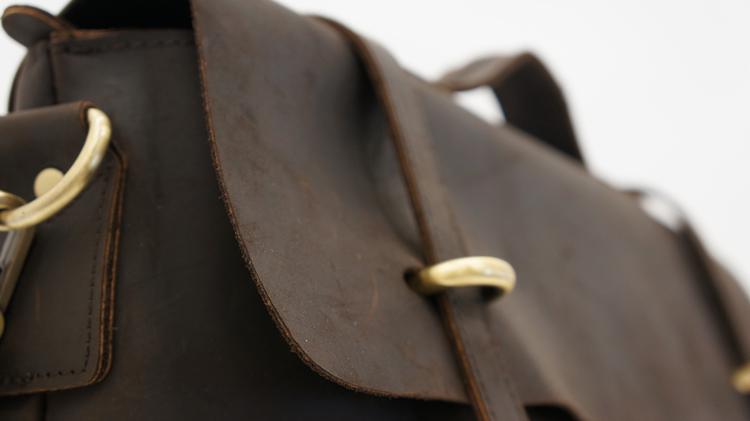 ヴィンテージレザー ビジネスバッグ チョコレートブラウン