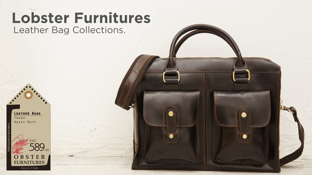 Lobster Furnitures Genuine Leather Bag