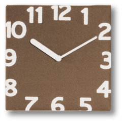 フェルト壁掛け時計モカ