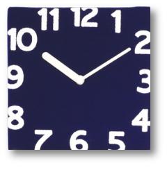 フェルト壁掛け時計ネイビー