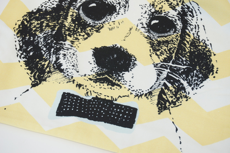 クッションカバー 子犬