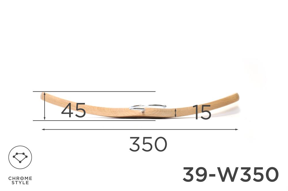 キッズのための木製ハンガー 幅350mm