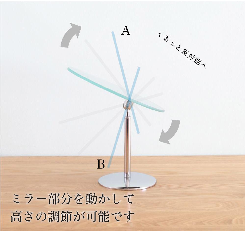 シンプルなフレームレスミラー