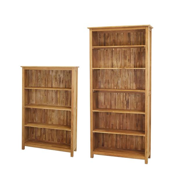 オーク無垢天然 木製本棚