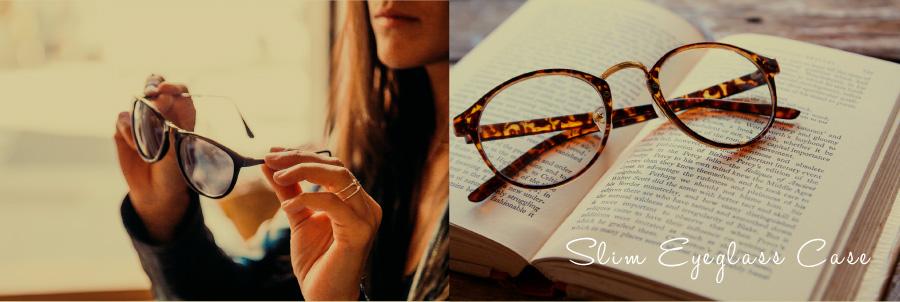 メガネやサングラスをスマートに収納するスリム眼鏡ケース
