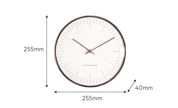 メタリック壁掛け時計のサイズ