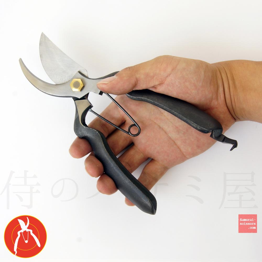 Bonsai Scissors. rounded handle.