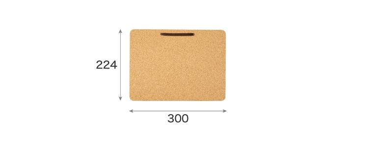 SSサイズコルクボードのサイズ
