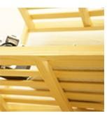 木製棚の裏側ズーム