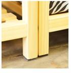 木製棚の脚