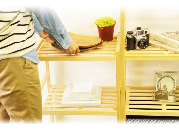木製棚スマートウッドラックの使用イメージシーン